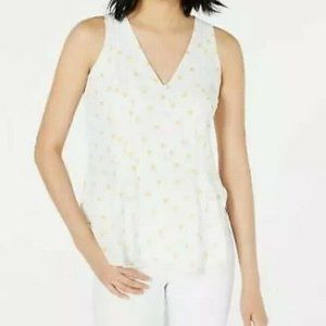Maison Jules Suns Out Sleeveless Peplum Blouse 129
